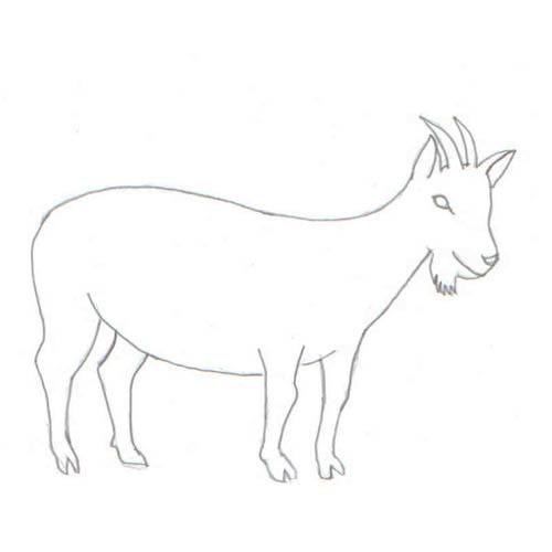 Tipareste si coloreaza: capra