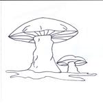 Tipareste si coloreaza: ciuperca.