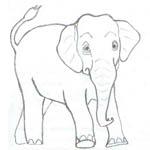 Tipareste si coloreaza: elefant
