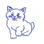 Tipareste si coloreaza: pisicuta.