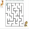 Labirint pentru copii - Ajuta-l pe Bambi sa ajunga la prietenul sau Bocanila.