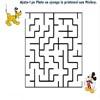 Labirint pentru copii - Ajuta-l pe Pluto sa ajunga la Mickey