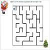 Labirint pentru copii - Ajuta-l pe Mos craciun sa gaseasca drumul spre brad