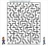 Labirint pentru copii - Cum ajunge Mario la prietenul sau Luigi?