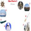 Rebus cu meserii: carma, vapor, barca, uniforma, panze, vasla, port, marinar.
