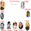 Rebus cu personalitati - Poeti Romani: Alecsandri, Cazimir, Labis, Pann, Stanescu, Cassian, Cosbuc, Vlahuta, Eminescu.