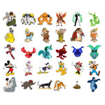 Puzzle cu personaje din desene animate