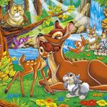 Puzzle cu personaje din Bambi